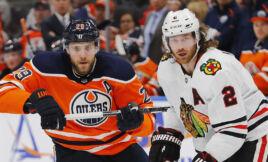 Leon Draisaitl Edmonton Oilers #29, Duncan Keith Chicago Blackhawks #2